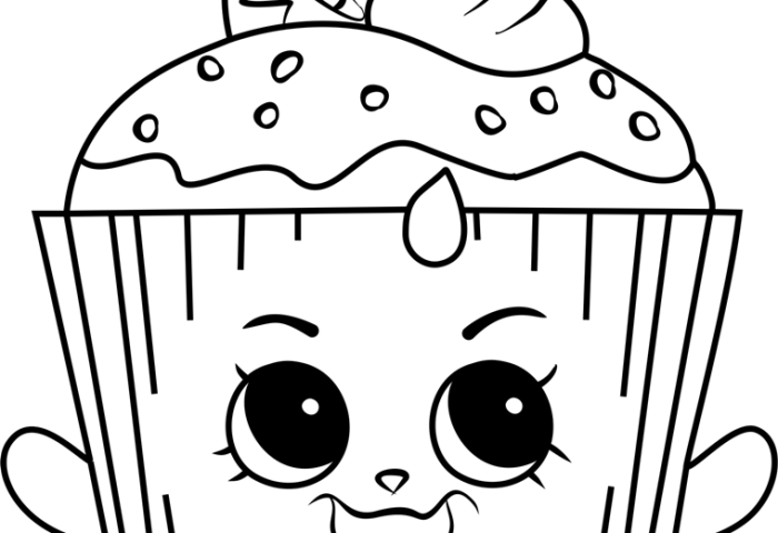 Cupcake Chic Shopkins Coloring Page Free Shopkins Coloring Pages