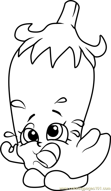 Silly Chilli Shopkins Coloring Page Free Shopkins