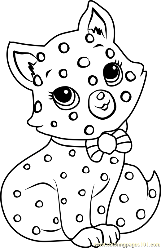 Custard The Cat Coloring Page Free Strawberry Shortcake