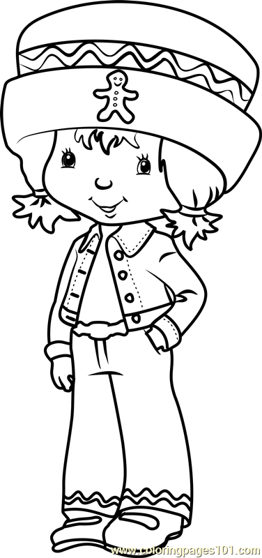 Cute Ginger Snap Coloring Page Free Strawberry Shortcake