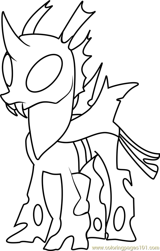 Thorax Mature Coloring Page Free My Little Pony