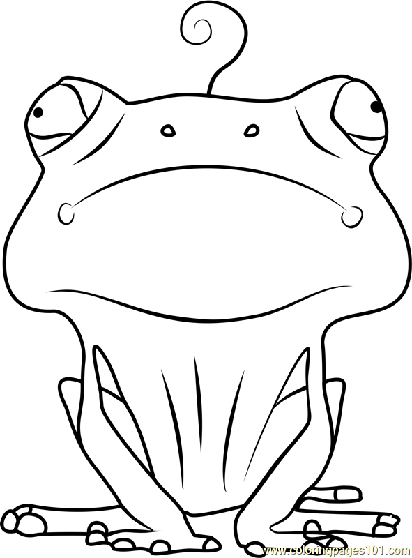 Frog Coloring Page Free Larva Coloring Pages
