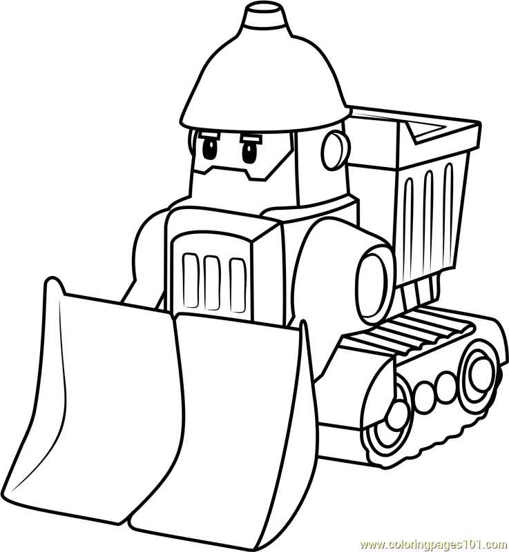 Bruner Coloring Page Free Robocar Poli Coloring Pages