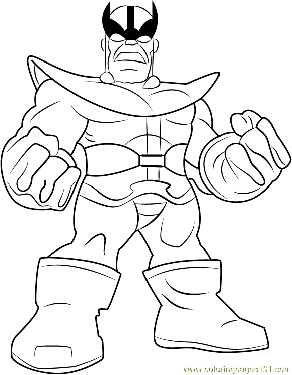 Thanos Coloring Page Free The Super Hero Squad Show Coloring Pages Coloringpages101 Com