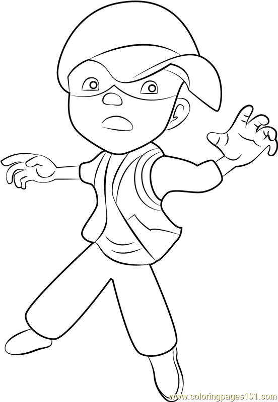 Boboiboy Solar Coloring Page Free Pages