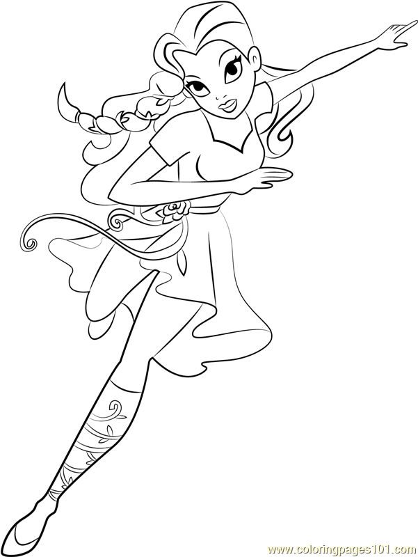Poison Ivy Coloring Page Free Dc Super Hero Girls Coloring Pages Coloringpages101 Com