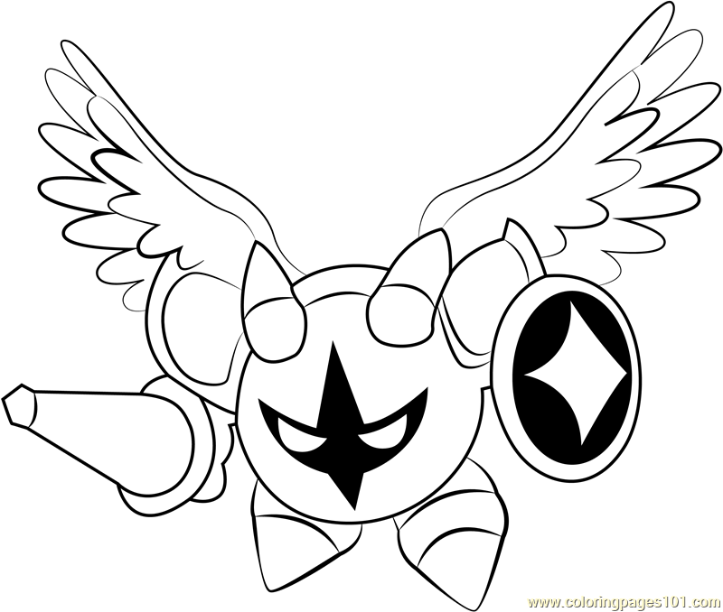 Galacta Knight Coloring Page Free Kirby Coloring Pages