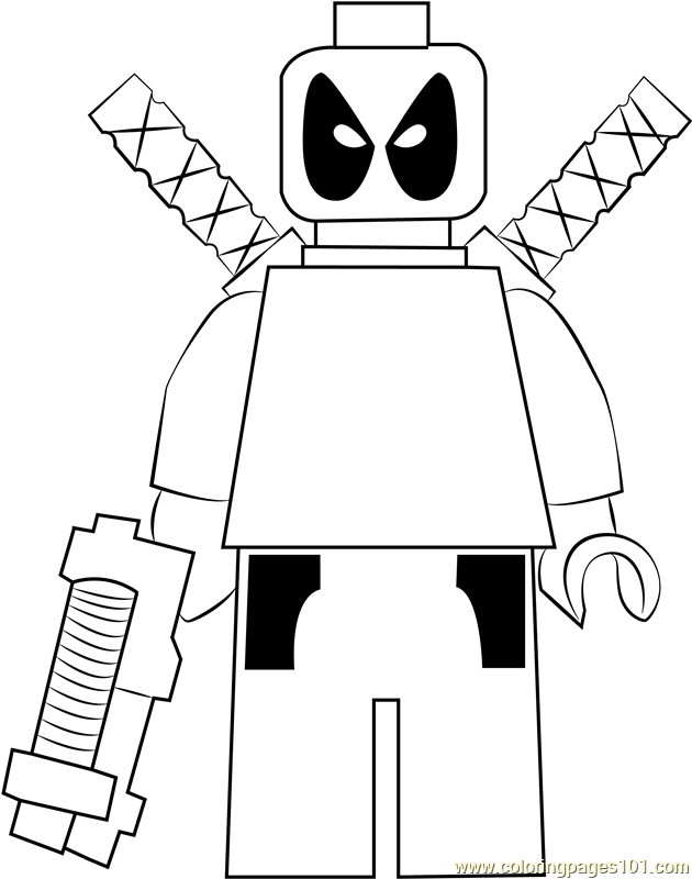 Lego Deadpool Coloring Page Free Lego Coloring Pages Coloringpages101 Com
