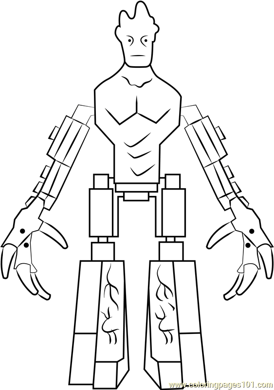 Lego Groot Coloring Page Free Lego Coloring Pages Coloringpages101 Com