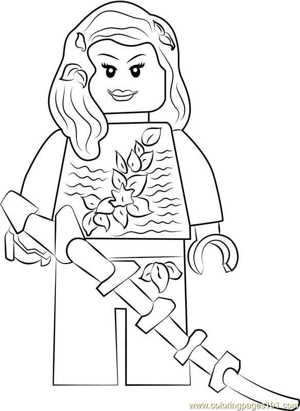 Lego Poison Ivy Coloring Page Free Lego Coloring Pages