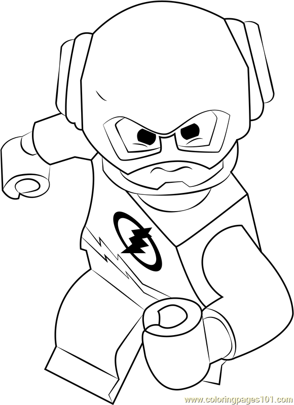 Lego The Flash Coloring Page Free Lego Coloring Pages