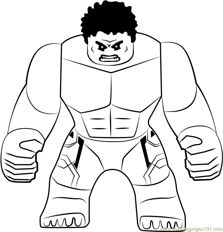 Lego The Hulk Coloring Page Free Lego Coloring Pages