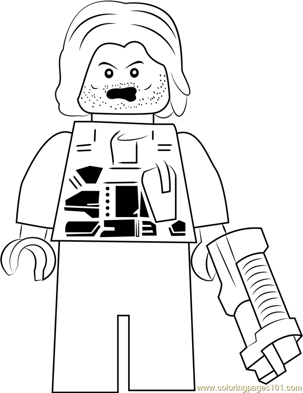 Lego Winter Soldier Coloring Page Free Lego Coloring