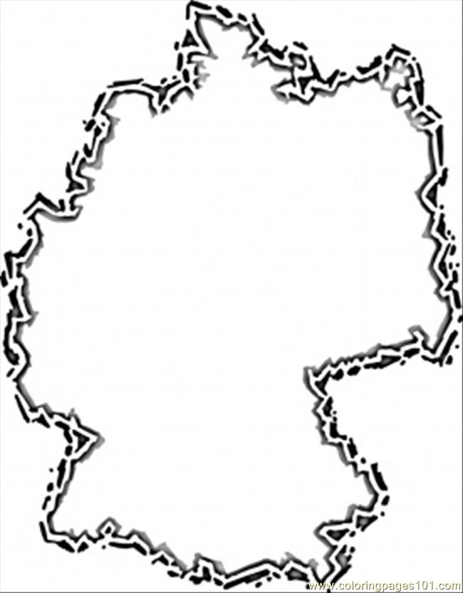 Germany Map Coloring Page Free Germany Coloring Pages