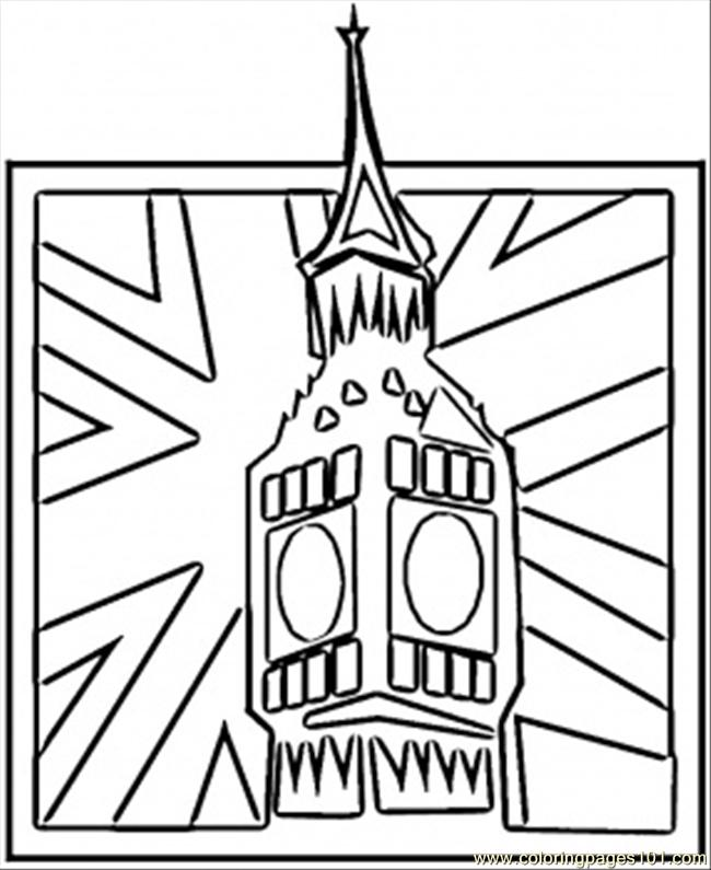 big ben coloring page  free great britain coloring pages