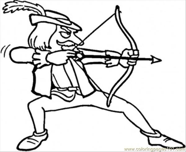 robin hood coloring pages # 71