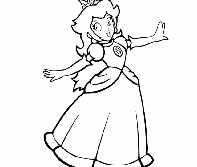 Princess Peach Coloring Page Coloring Pages  U