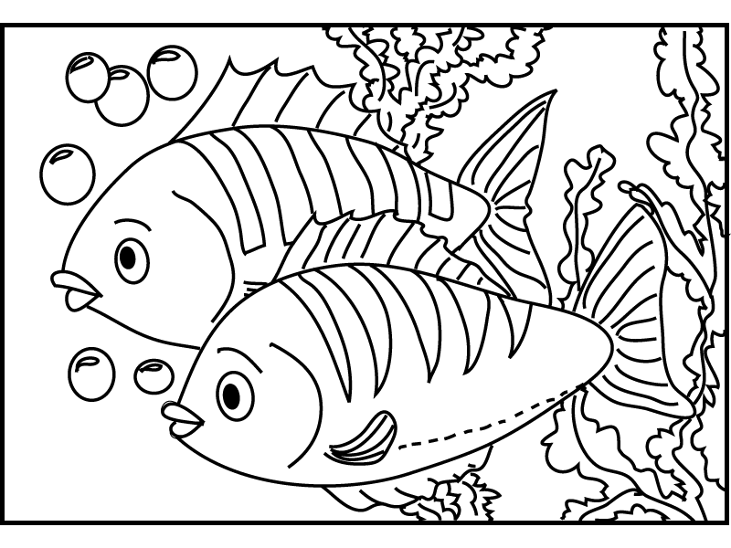 fish 2 coloring pages 7 com png