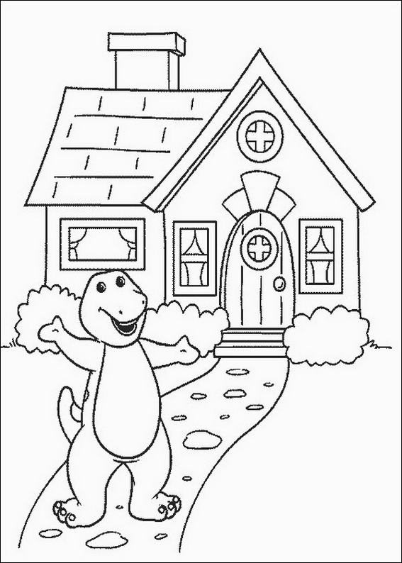 barney coloring pages free to print cooloring com