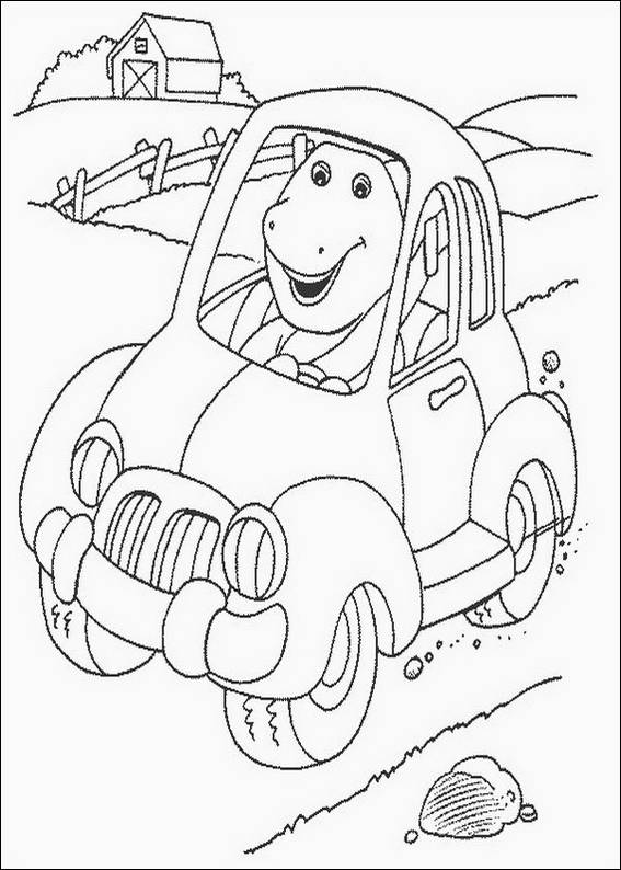 barney in car coloring pages 7 com jpg
