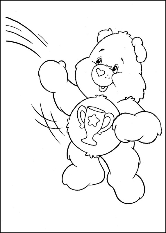 care bears 4 coloring page