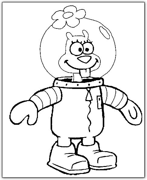 sponge bob sandy coloring page