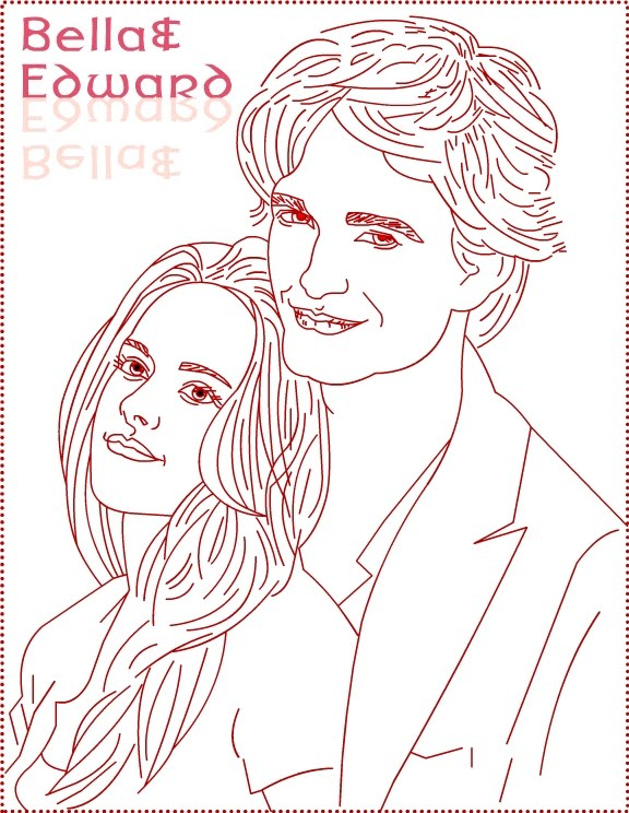 twilight edward bella draw 3 coloring pages 7 com jpg