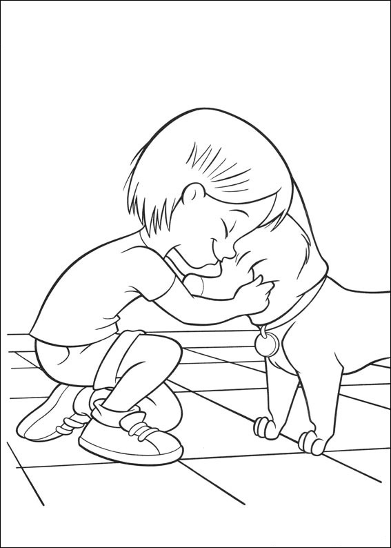 bolt and penny coloring pages 7 com jpg