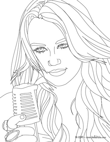 hannah montana coloring pages # 49