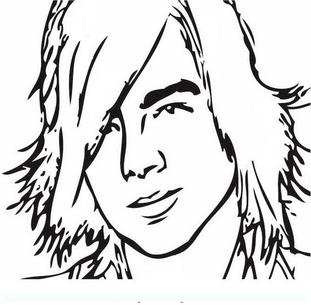 camp rock famous people coloring pages