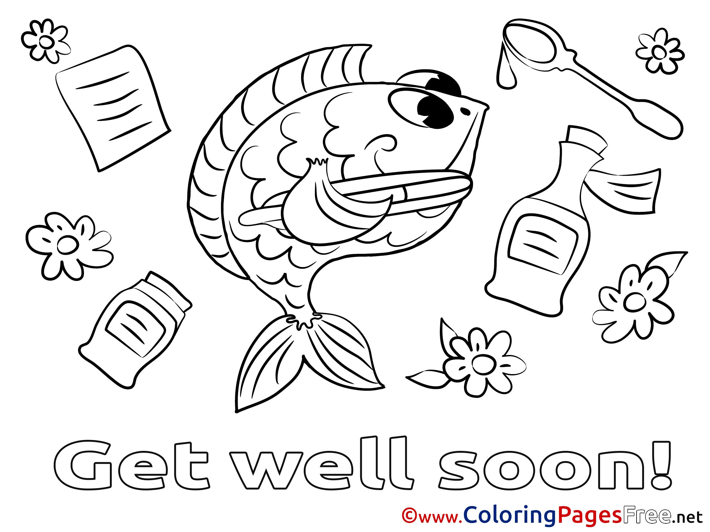 Fish Picture For Colouring