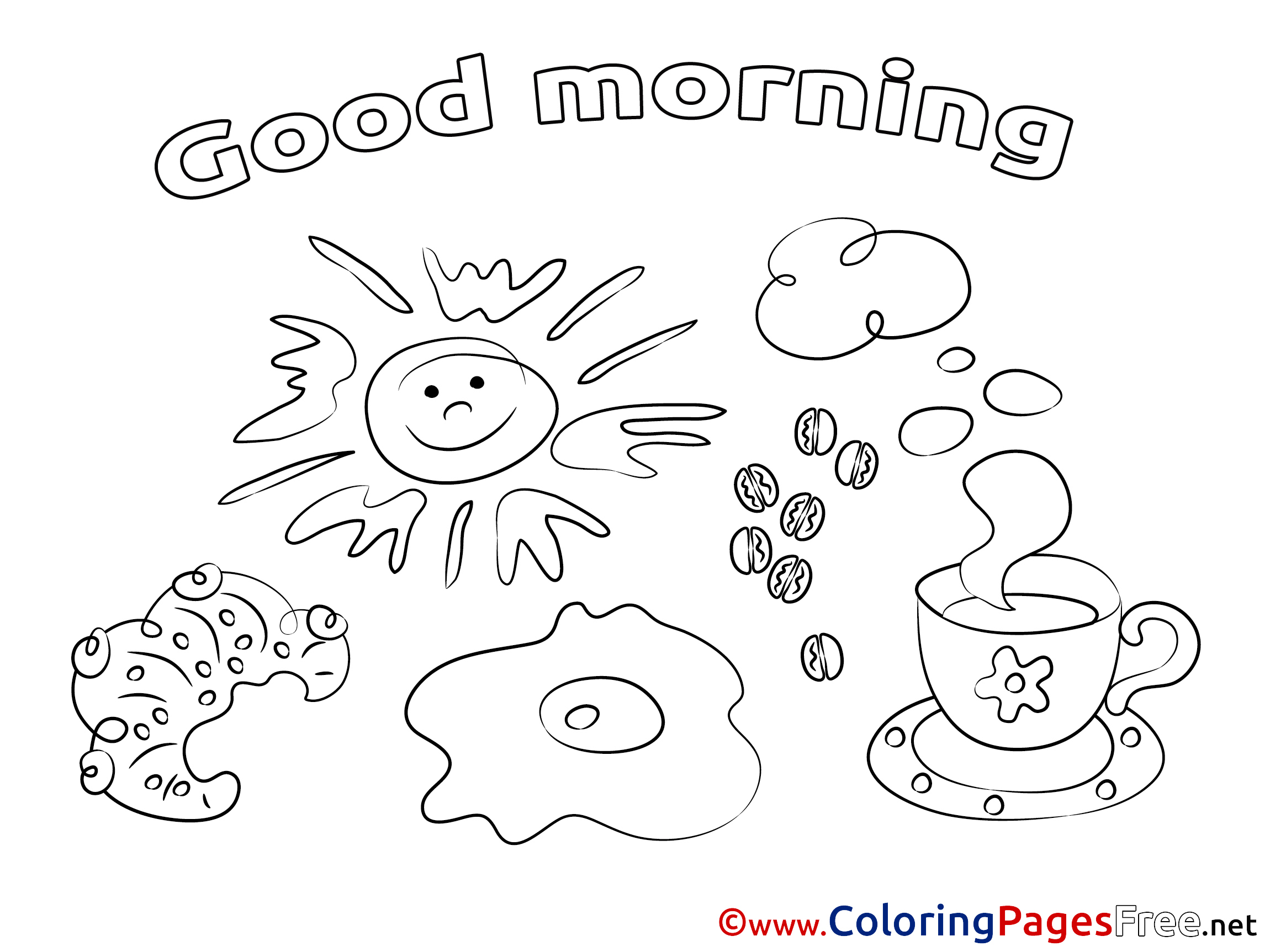 Good Morning Colouring Pages