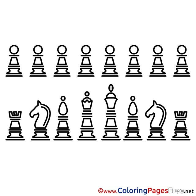 Chess Colouring Page printable free