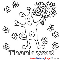 thank you coloring pages keywords saying thank you coloring page thank