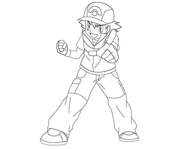 Pokemon Ash Coloring Pages Ash Ketchum Beat Team Rocket On Pokemon
