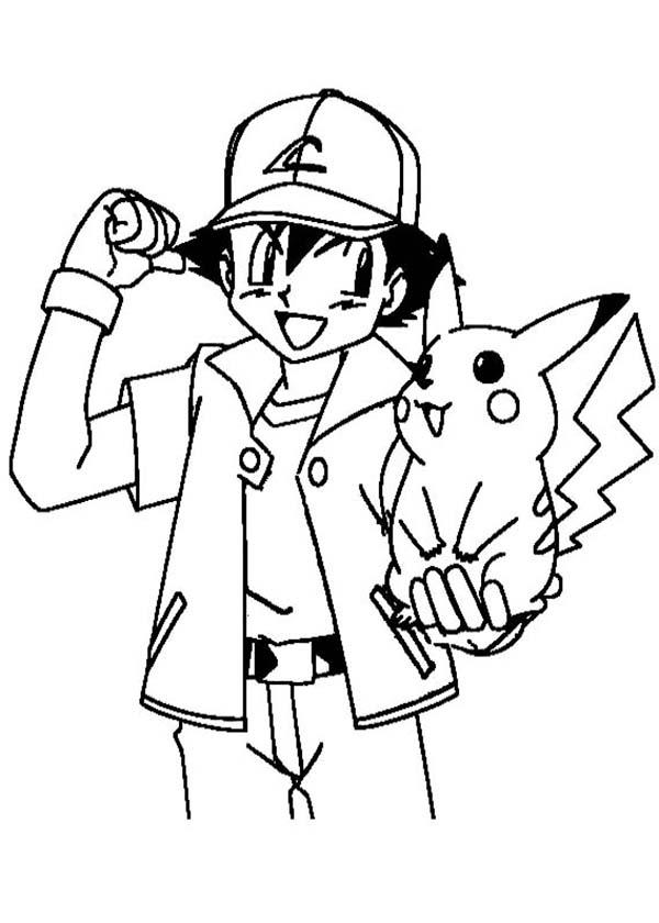 ash ketchum encouraging pikachu to be stronger on pokemon