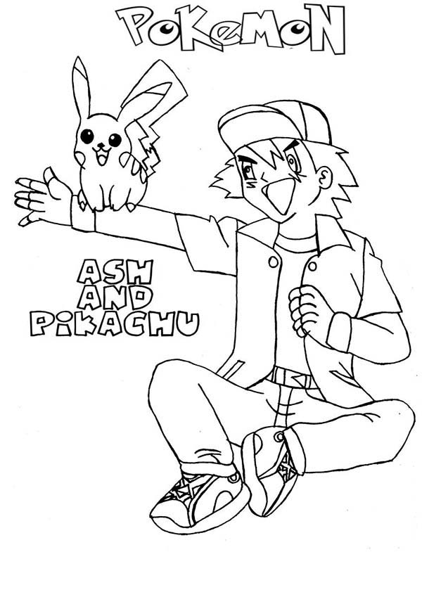 ash ketchum and pikachu best friend forever on pokemon