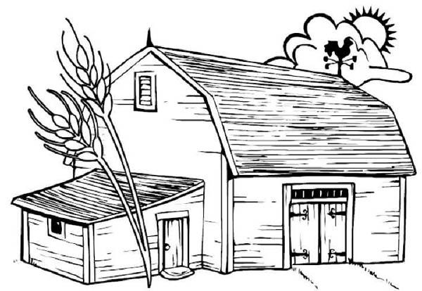 big barn farm coloring page coloring sky