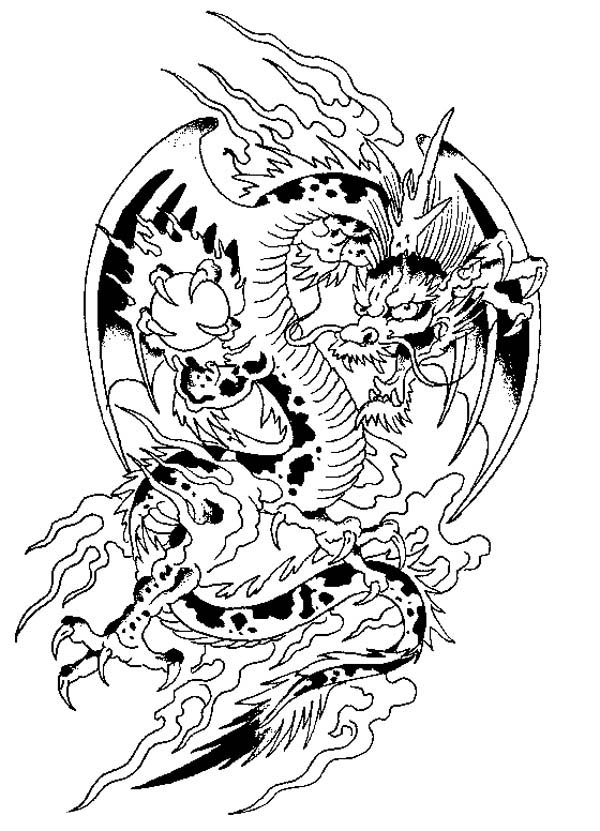 Chinese fantasy animal coloring page coloring sky, i love you dad coloring pages