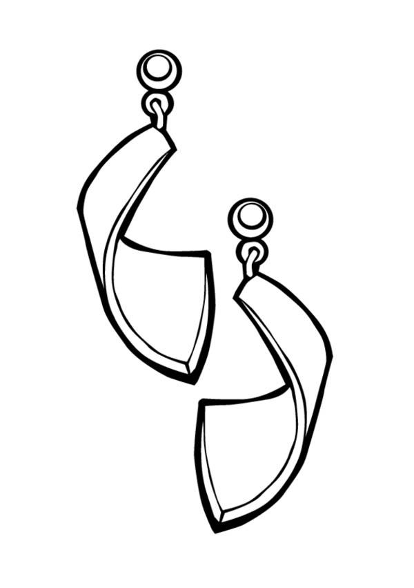 Earrings Jewelry For Girl Coloring Page Coloring Sky