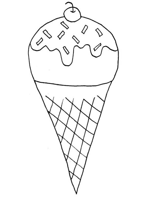 ice cream everybody love ice cream coloring page