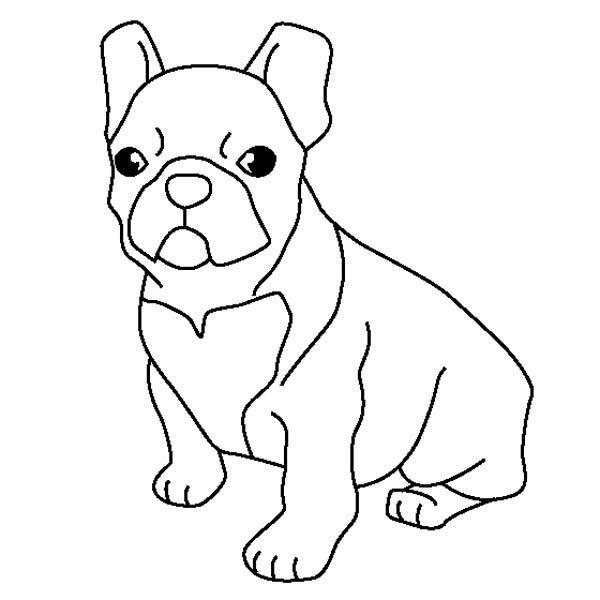 french bulldog coloring page sky - Bulldog Coloring Pages
