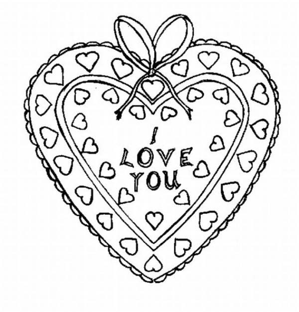 heart shaped box i love you coloring page coloring sky