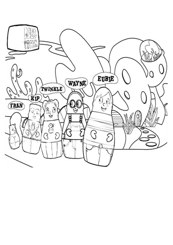 higglytown heroes family on vacation to sea world coloring page