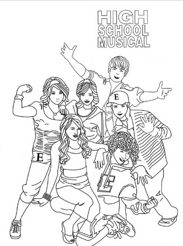 High School Musical Poster Coloring Page Coloring Sky