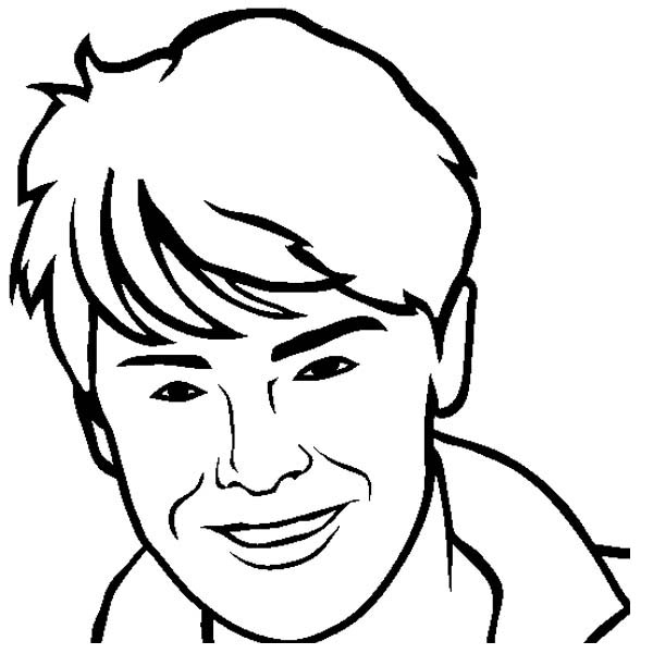 how to draw zac efron from high school musical coloring