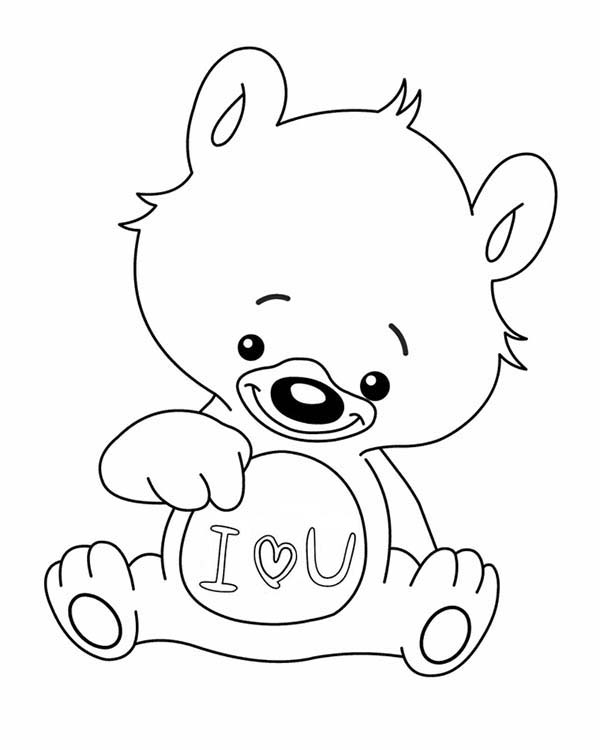 love you little teddy bear coloring page coloring sky