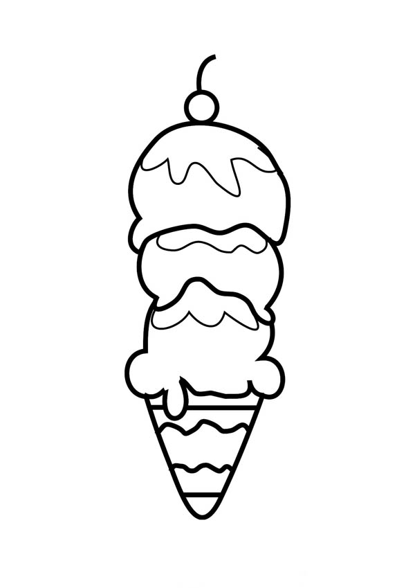 ice cream ice cream coloring page for kids