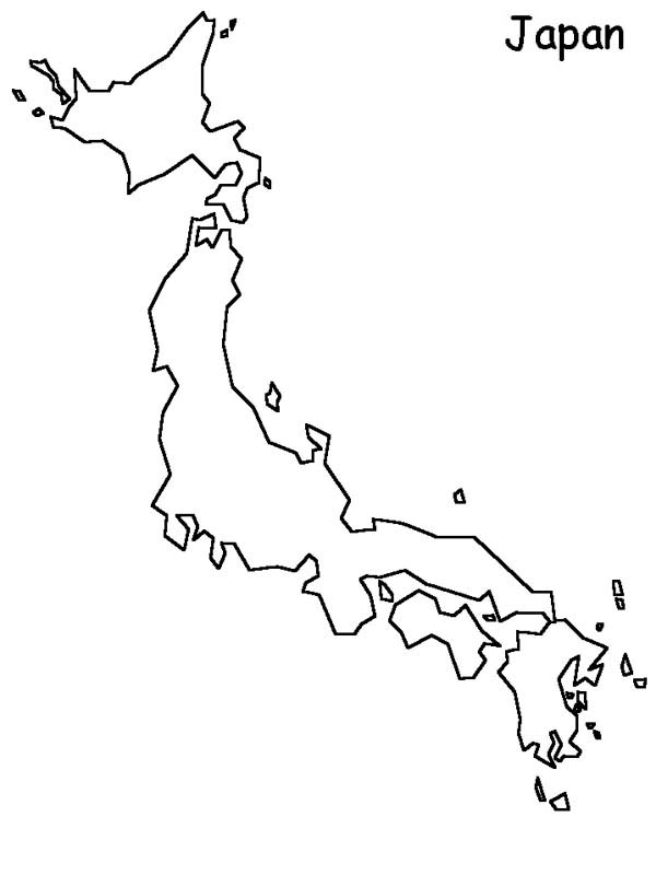 japan world map coloring page coloring sky