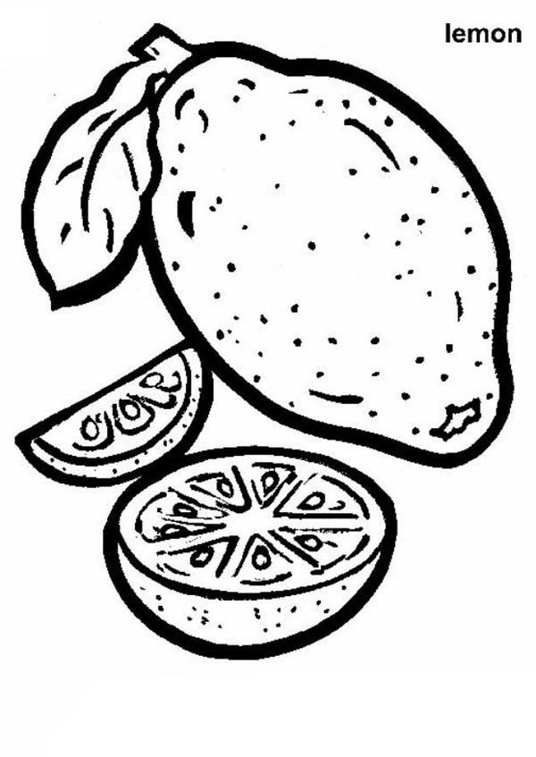 lemon coloring page # 42